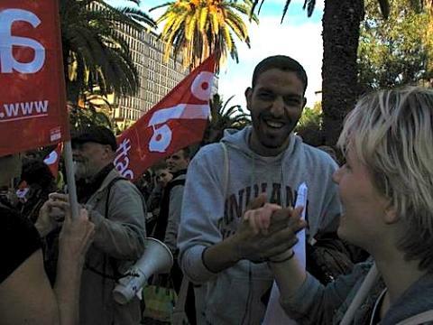 Bilde fra World Social Forum i Tunis 2013