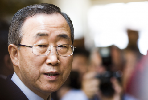 FNs generalsekretær Ban Ki-moon har lagt fram synteserapporten for 2015. Foto: Thomas Hawk/flickr