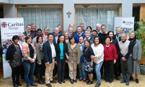 Caritas rådsmøte med nødhjelp som fokus. Hvert år samles rådsmøte som består av eiere og styre av Caritas Norge. Foto: Caritas Norge