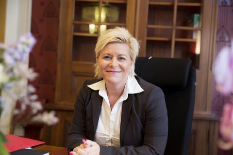 Finansminister Siv Jensen. Foto: Rune Kongsro