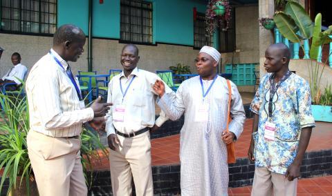 James Ninrew, Charles Onak Judo, Richard Ruati og Luk Riek fra Sør-Sudan