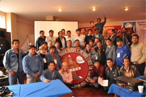 Pictures from a seminar with petroleum workers in Bolivia.