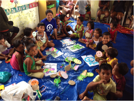 Plan works specifically to help children after natural disaster in the Philippines in November 2013.