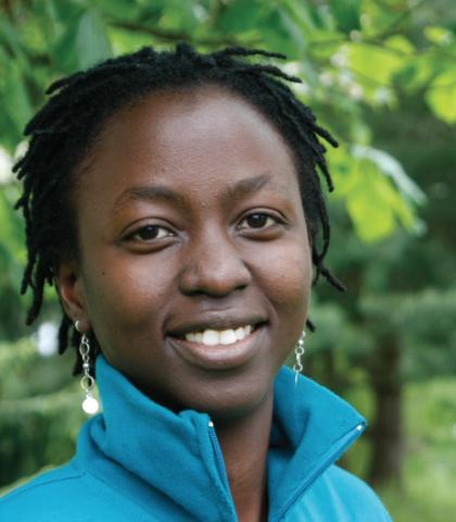 Sarah Shija jobbet for PWYP Norge i Oslo i to år gjennom Kirkens Nødhjelps utvekslingsprogram. Foto: Liz Palm/FK