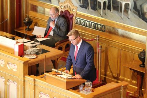 Interpellant Truls Wickholm (Ap). Foto: Christine Amdam