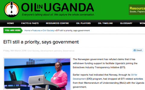 Eiti still a priority - Article by Oil in Uganda